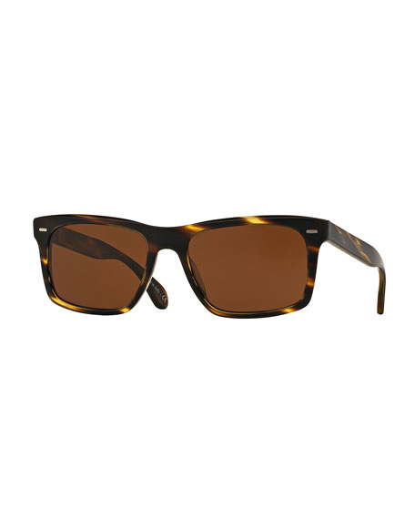 Oliver Peoples Brodsky VFX+ Polarized Sunglasses, Cocobolo/Java