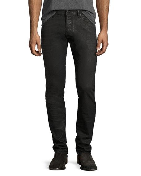Diesel Thommer 0859X Coated Skinny Jeans, Black