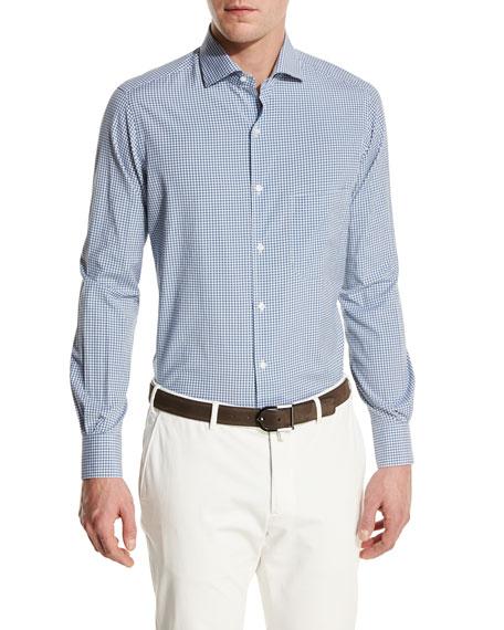 Loro Piana Alain S Gingham Silk-Cotton Pocket Shirt,