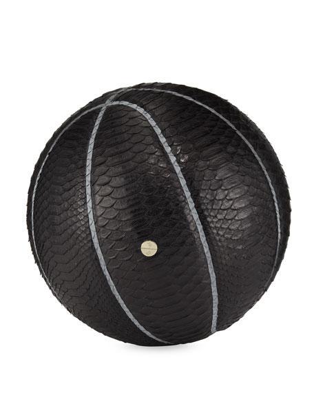 Elisabeth Weinstock Python Basketball & Hoop Set, Black