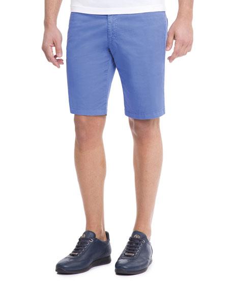 Slim-Fit Denim Shorts