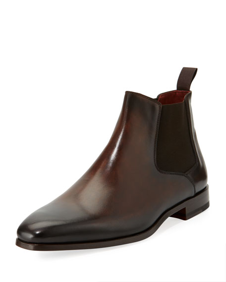 Leather Chelsea Boot, Dark Brown