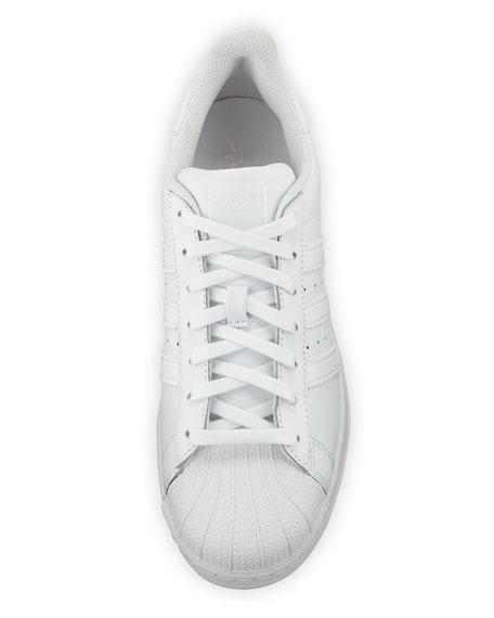 Men's Superstar Foundation Leather Sneaker, White