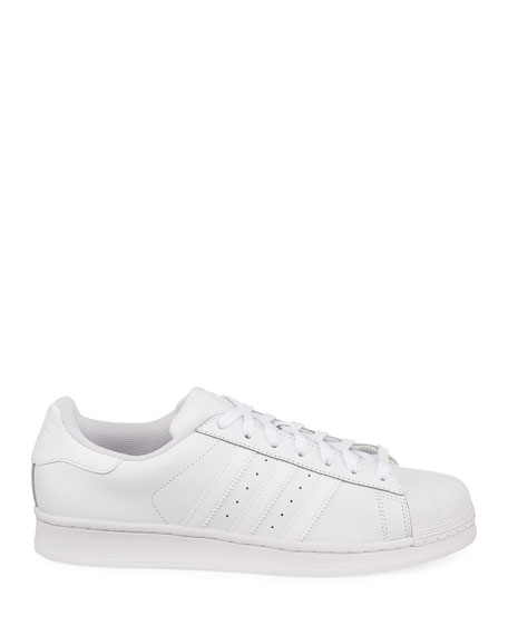 Men's Superstar Foundation Leather Sneakers, White