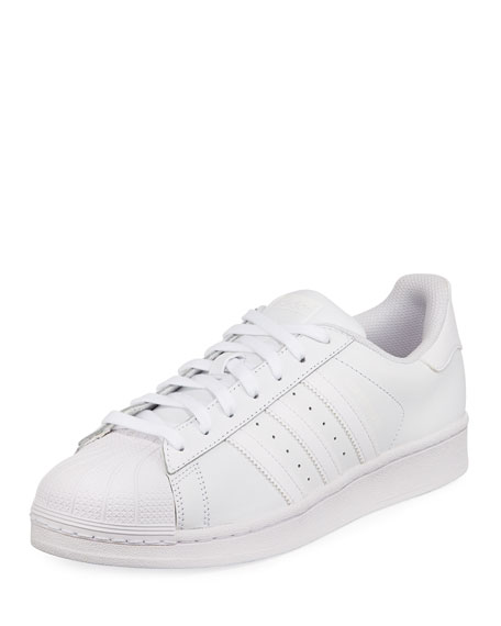 Men's Superstar Foundation Leather Sneaker, White