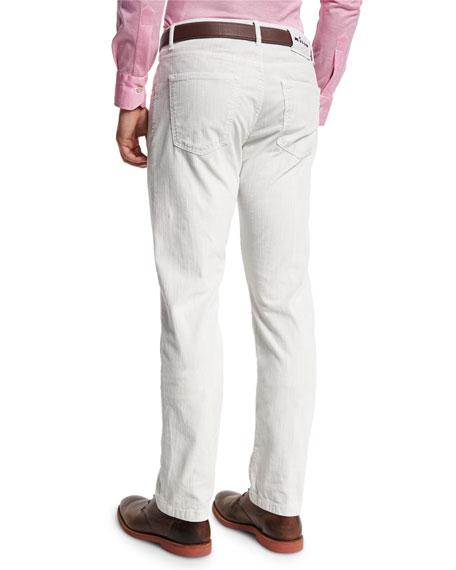 Washed Corduroy Pants, Light Camel/Ivory