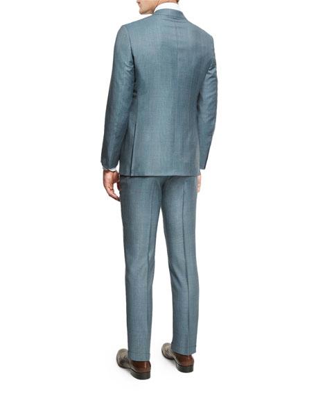 Trofeo® Tonal Plaid Two-Piece Suit, Light Green