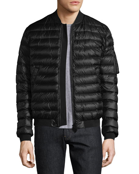 moncler black bomber jacket