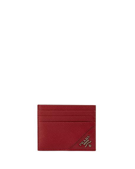 Saffiano Leather Card Case