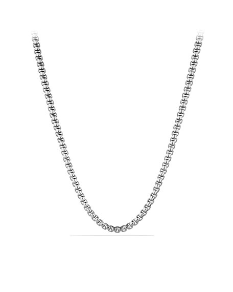"7.3mm Box Chain Necklace, 20""L"