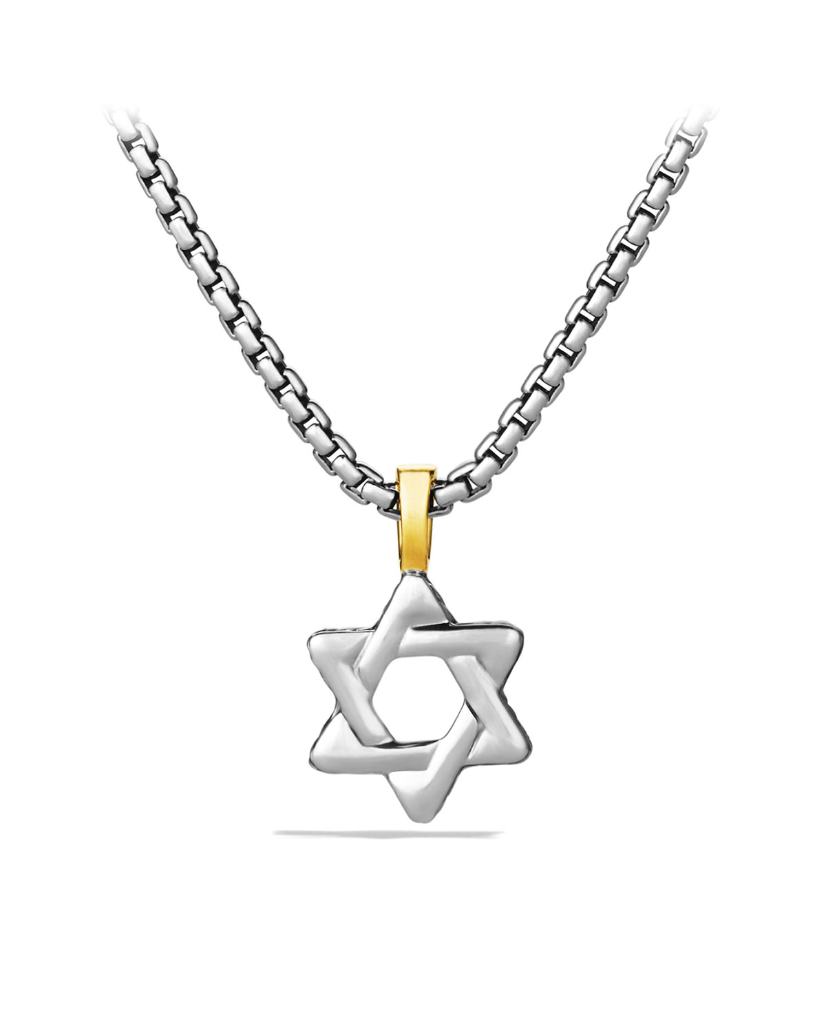 835b986cade6 David Yurman Cable Classics Star of David with Gold on Chain ...