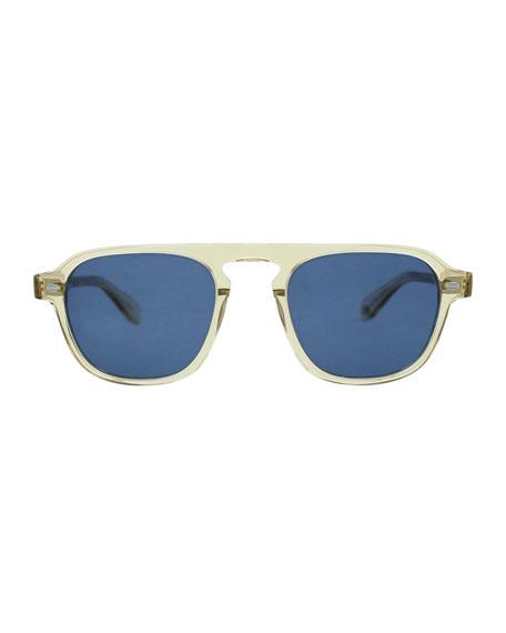 f9297f906a5f9 Image 2 of 2  Garrett Leight Grayson 50 Aviator Sunglasses