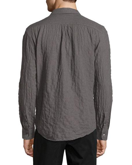 Crinkled Pocket Sport Shirt