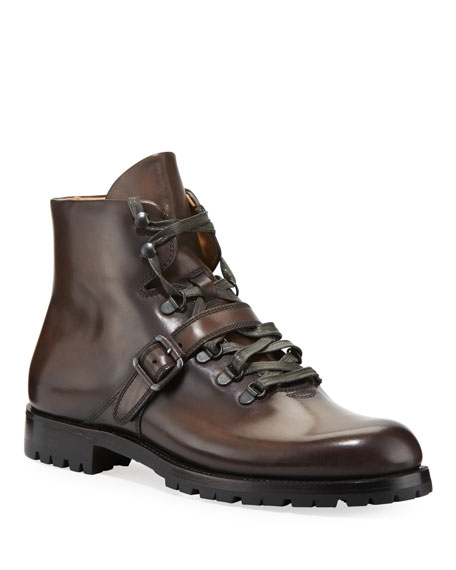 Berluti Brunico Venezia Leather Hiking Boot