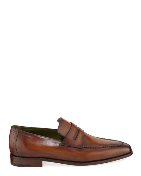 Berluti Men's Andy Leather Penny Loafers