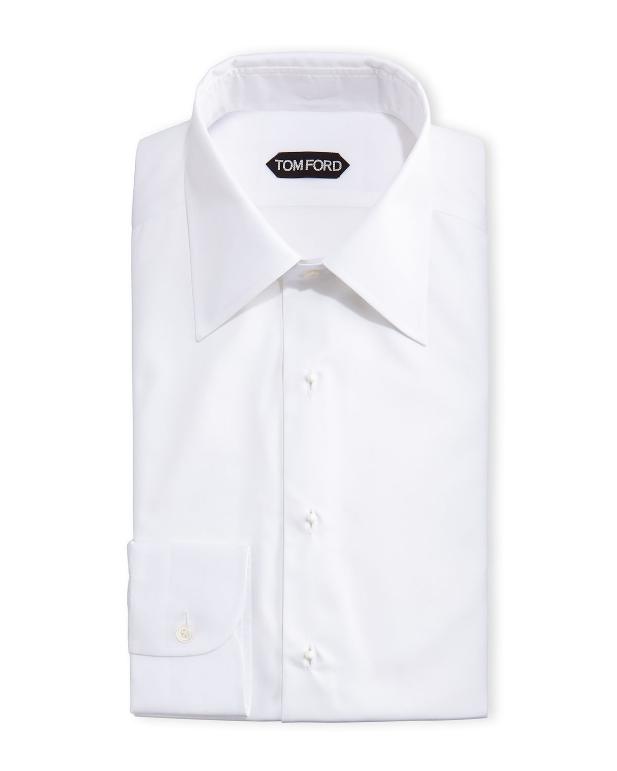 White French Cuff Dress Shirt With Collar Bar Chad Crowley Productions