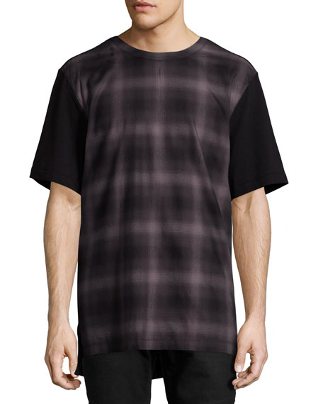 Helmut Lang Gradient-Plaid T-Shirt