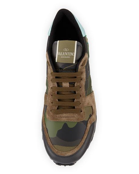 Men's Rockrunner Camo Leather Trainer Sneaker