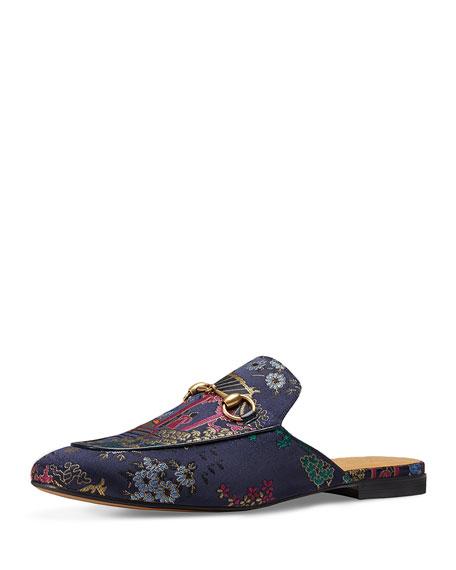 Gucci Princetown Donald Duck Jacquard Slipper, Multicolor