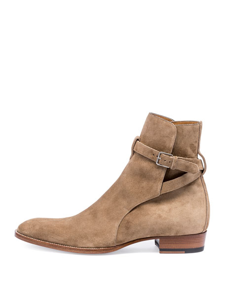 Wyatt 40mm Suede Jodhpur Boot