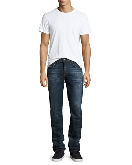 Brixton Slightly Distressed Denim Jeans, Colter