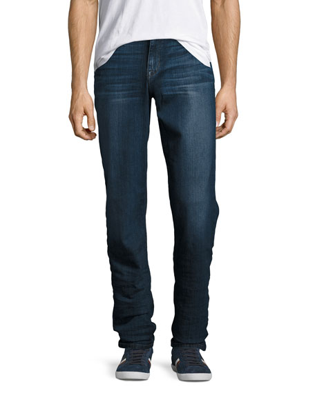 The Classic Straight-Leg Stretch-Denim Jeans, Blue