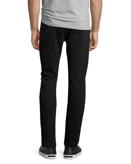 Paxtyn Released-Hem Jeans, Black