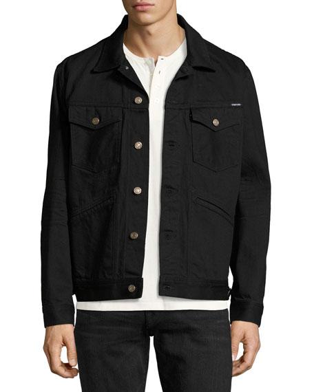 Classic Western Denim Jacket, Worn Black