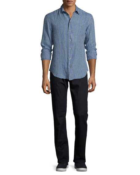 Comfort Denim Slim-Straight Jeans, Blue