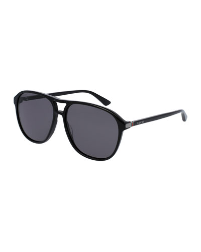 luxury sunglasses for men 8w5v  Men's Acetate Aviator Sunglasses, Black