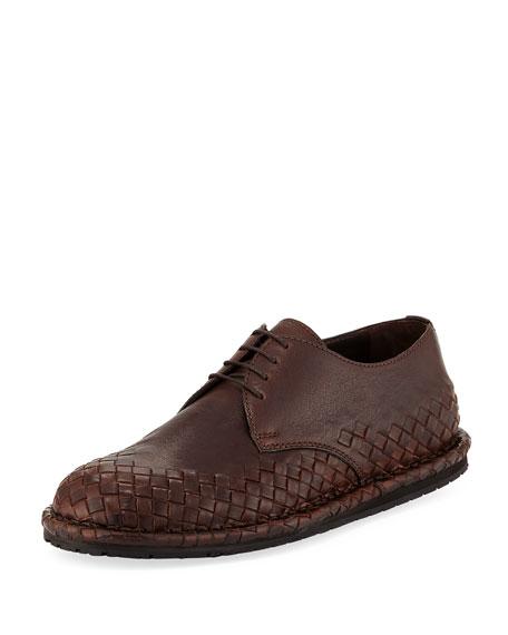 Bottega Veneta San Crispini Intrecciato Oxford Shoe