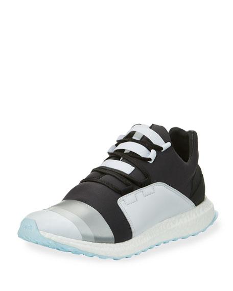 Y-3 Kozoko Colorblock Low-Top Sneaker, Black/Silver