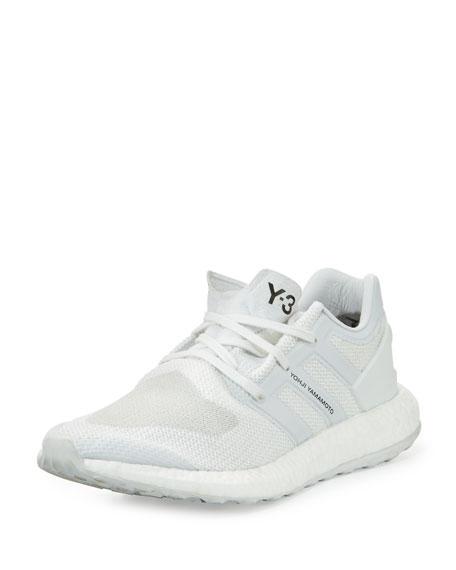 Y-3 Men's Pure Boost Mesh Sneaker, White