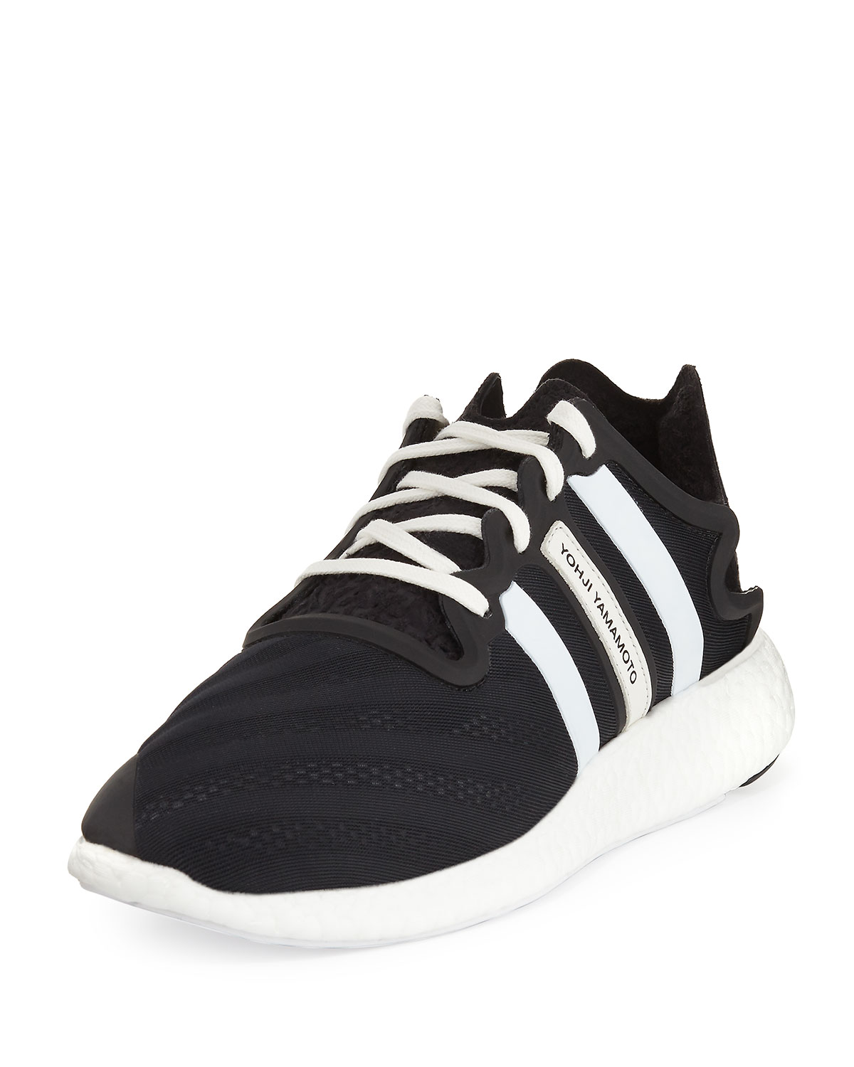 outlet store 7a3ba 18a4a Y-3Mens Y-3 Yohji Run Sneaker, BlackWhite