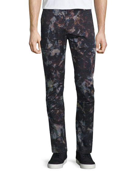 J Brand Hydrox Tie-Dye Printed Stretch Pants, Spero