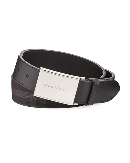 Burberry Horseferry Check Belt, Charcoal/Black and Matching Items
