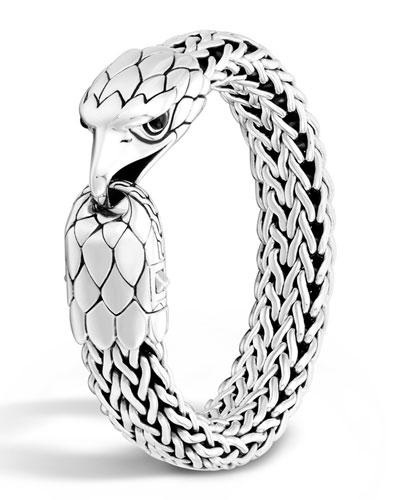 Men's Silver Eagle Head Chain Bracelet