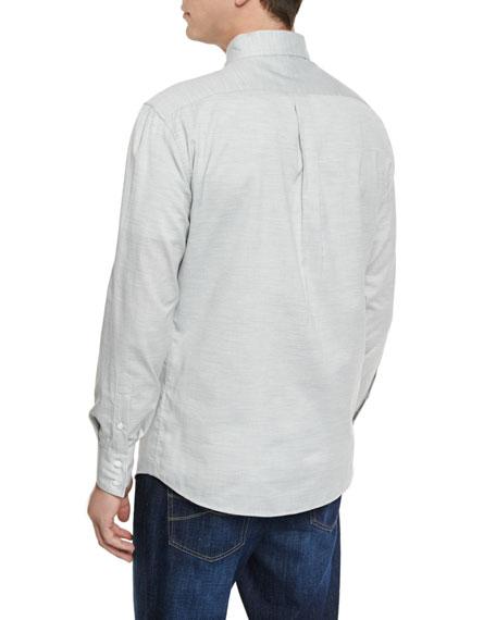 Solid Twill Long-Sleeve Sport Shirt