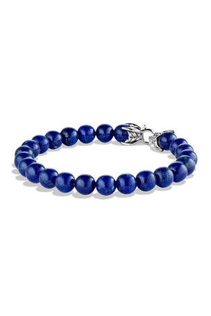 David Yurman Men's Spiritual Beads Bracelet with Lapis Lazuli