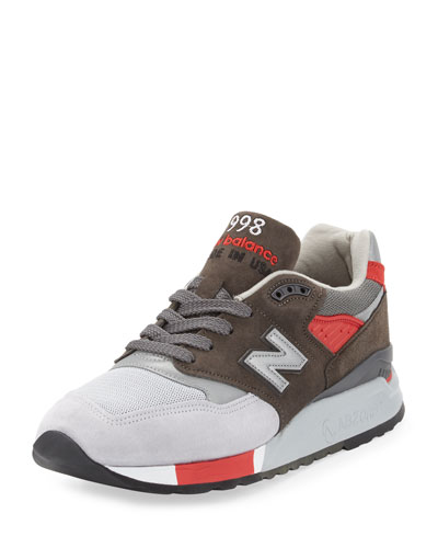 Men's 998 Age of Exploration Colorblock Sneaker, Gray/Red