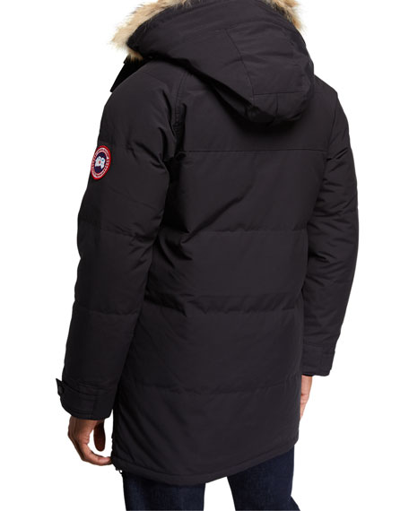 Image 3 of 4: Emory Down Parka with Fur-Trim Hood