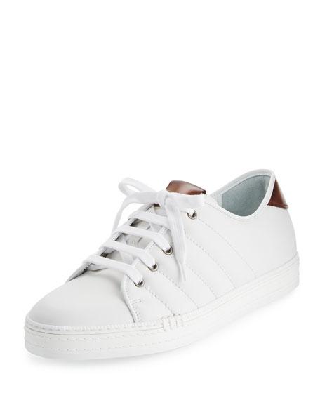 Berluti Playfield Men's Leather Low-Top Sneaker, White