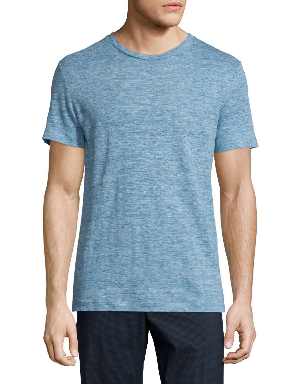 ba72158c83 Theory Koree Linen Melange Short-Sleeve T-Shirt