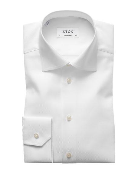 Eton Contemporary-Fit Tonal Satin Striped Formal Shirt