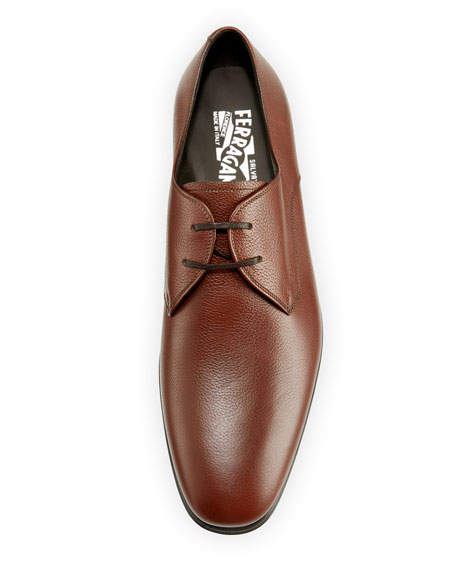 Men's Calf Leather Dress Oxford, Tan/Camel