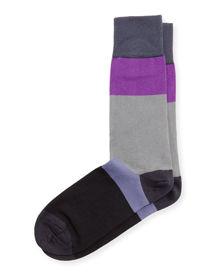 Paul Smith Capri Colorblock Stripe Socks