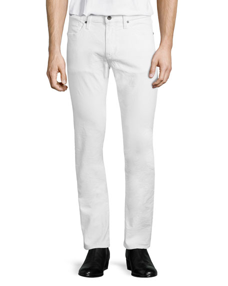 Bowery Slim-Fit Jeans, Bone White