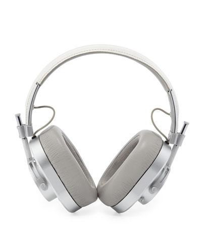 MH40 Over-Ear Headphones  White/Silvertone