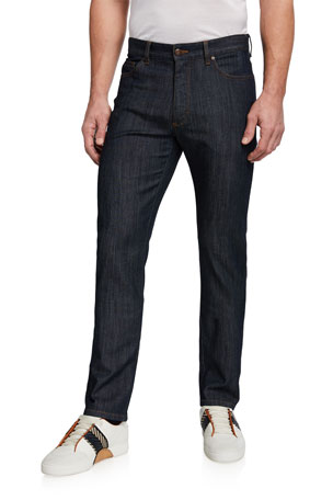 Ermenegildo Zegna Five-Pocket Regular-Fit Denim Pants