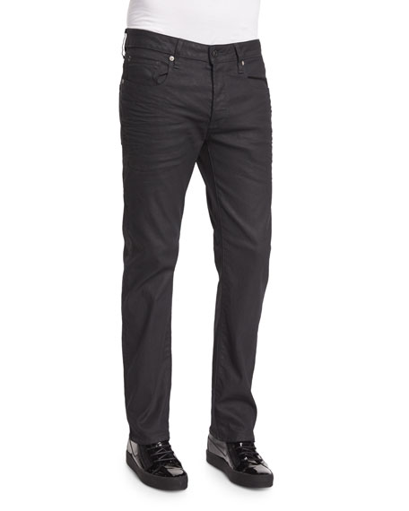 G-Star 3301 3D Aged Straight-Leg Jeans, Navy